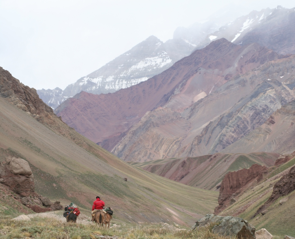 HEADING FOR BASE CAMP - ACONCAGUA