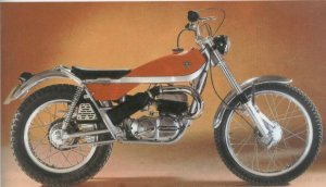 Bultaco 250 Sherpa, a similar model to the first love of my life