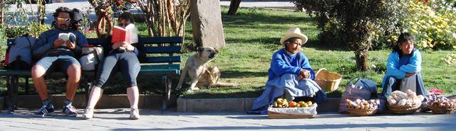 Ollantytambo: plaza life