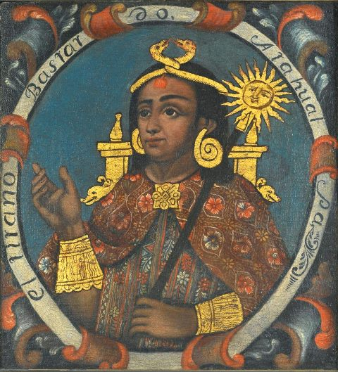 THE INCA EMPOEROR ATAHUALPA. Image: Brooklyn Museum