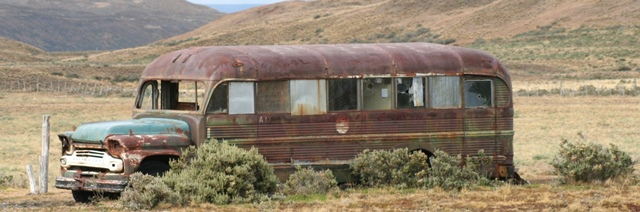 THE OLD SCHOOL BUS, TIERRA DEL FUEGO