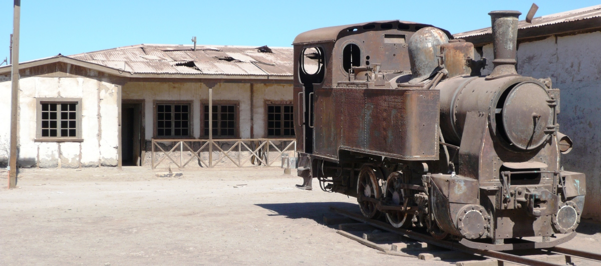 HUMBERSTONE, THE ABANDONED NITRATE MINE. CHILE