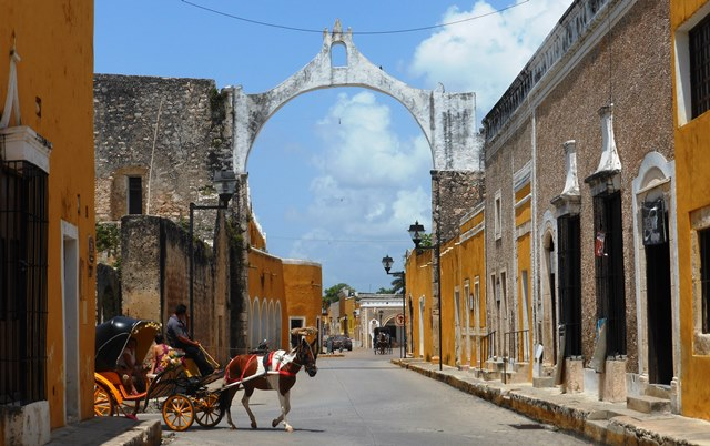 THE STREETS OF IZAMAL.