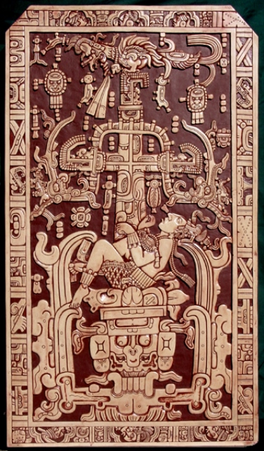 THE SLAB COVERING PAKAL'S SARCOPHAGUS.